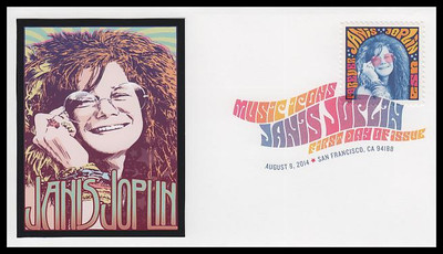 4916 / 49c Janis Joplin : Singer 2014 Digital Color Postmark FDCO Exclusive First Day Cover