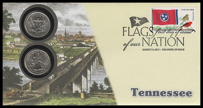 4322 / 42c Flags Of Our Nation : Tennessee State Quarter Coin Fleetwood 2011 First Day Cover