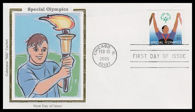 3771 / 80c Special Olympics 2003 Colorano Silk First Day Cover