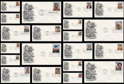 2869a - t / 29c Legends of the West : Tuscon, AZ Postmark Set of 20 Artcraft 1994 FDCs