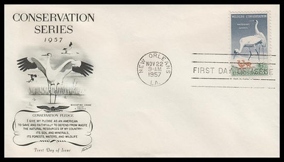 1098 / 3c Wildlife Conservation Fleetwood 1957 FDC
