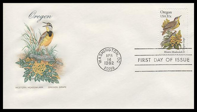 1953 - 2002 / 20c State Birds and Flowers Washington DC Postmarks Set of 50 House of Farnam 1982 FDCs