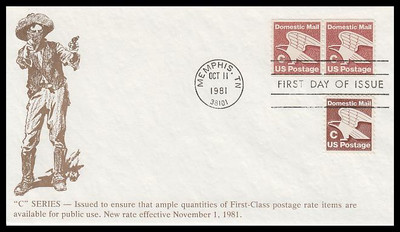 """1946 - 1947 / 20c Eagle """"C"""" Rate Change Stamp Sheet and Coil Pair Combo 1981 K.M.C. Venture FDC"""
