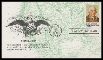 1941 / 20c John Hanson 1981 K.M.C. Venture FDC