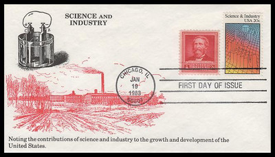 2031 / 20c Science and Industry Combo 1983 K.M.C. Venture FDC