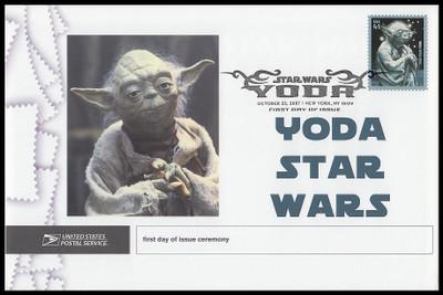 4205 / 41c Yoda : Star Wars 2007 Cacheted USPS First Day Ceremony Program