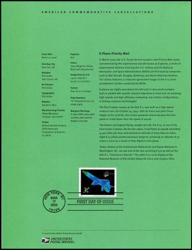 4018 / $4.05 X - Plane Priority Mail 2006 USPS #0618 Souvenir Page