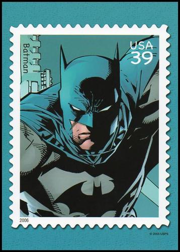 Batman : DC Comics Super Heroes Stamp Collectible Jumbo Postcard