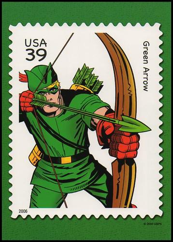 Green Arrow : DC Comics Super Heroes Stamp Collectible Jumbo Postcard