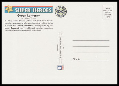 Green Lantern : DC Comics Super Heroes Stamp Collectible Jumbo Postcard