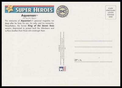 Aquaman : DC Comics Super Heroes Stamp Collectible Jumbo Postcard
