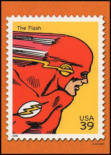 The Flash : DC Comics Super Heroes Stamp Collectible Jumbo Postcard