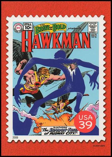 Hawkman Comic Book Cover : DC Comics Super Heroes Stamp Collectible Jumbo Postcard