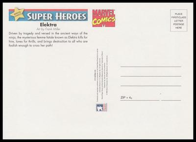 Elektra Marvel Comics Super Heroes Stamp Collectible Jumbo Postcard