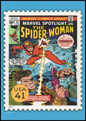 Spider - Woman Comic Book Cover Marvel Comics Super Heroes Stamp Collectible Jumbo Postcard