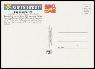 Sub - Mariner Comic Book Cover Marvel Comics Super Heroes Stamp Collectible Jumbo Postcard