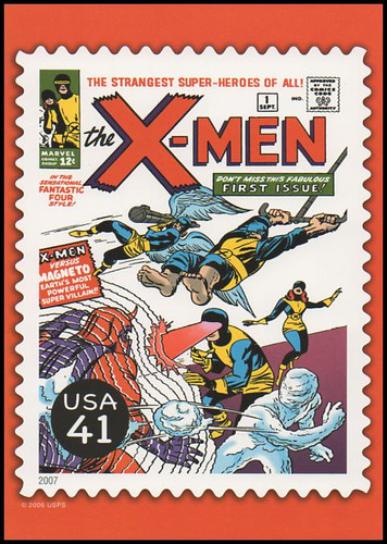 X - Men Comic Book Cover Marvel Comics Super Heroes Stamp Collectible Jumbo Postcard