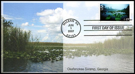 C142 / 69c Okefenokee Swamp Airmail Stamp 2007 Fleetwood FDC