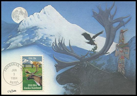 2066 / 20c Alaska Statehood 1984 Fleetwood Maximum Card