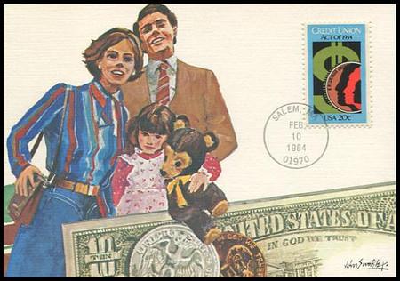 2075 / 20c Credit Union Act : 50th Anniversary 1984 Fleetwood Maximum Card