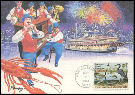 2086 / 20c Louisiana World Exposition 1984 Fleetwood Maximum Card