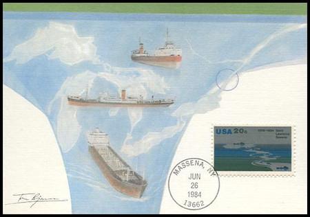 2091 / 20c St. Lawrence Seaway : 25th Anniversary 1984 Fleetwood Maximum Card