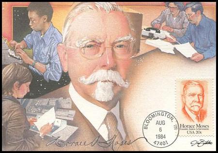 2095 / 20c Horace Moses 1984 Fleetwood Maximum Card
