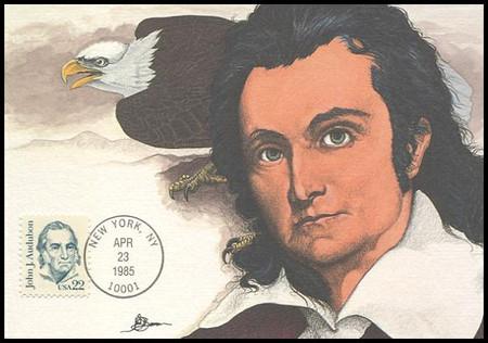 1863 / 22c John J. Audubon : Great Americans Series 1985 Fleetwood Maximum Card