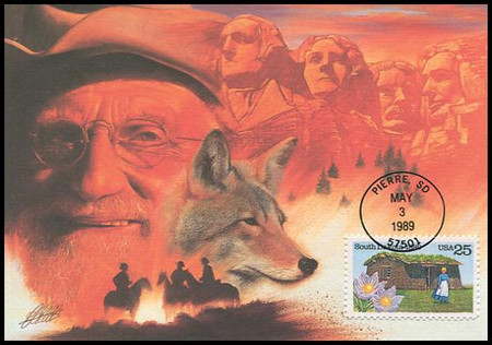 2416 / 25c South Dakota Statehood : Statehood Series 1989 Fleetwood First Day of Issue Maximum Card