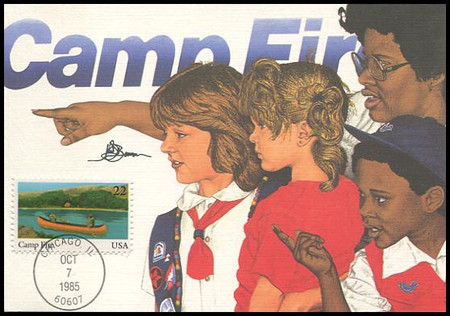 2160 - 2163 / 22c International Youth Year Set of 4 Fleetwood 1985 Maximum Card