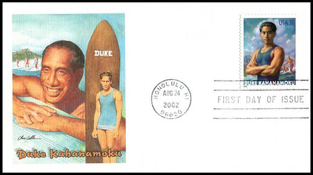 3660 / 37c Duke Kahanamoku : Surfer 2002 Fleetwood First Day Cover