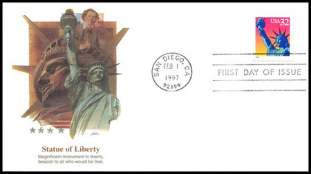 3122 / 32c Statue of Liberty Booklet Single 1997 Fleetwood FDC