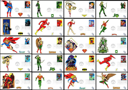 4084a - t / 39c DC Comics Super Heroes Set of 20 Fleetwood 2006 First Day Covers