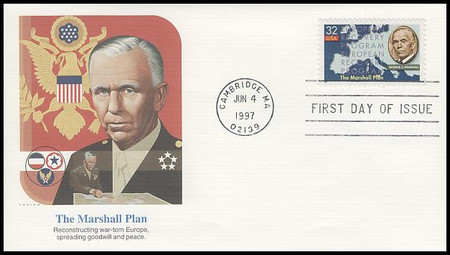 3141 / 32c The Marshall Plan - 50th Anniversary 1997 Fleetwood First Day Cover