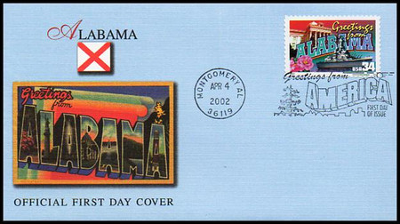 3561 - 3610 / 34c Greetings From America State Capitol Postmarks Set of 50 Fleetwood 2002 First Day Covers