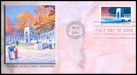 3862 / 37c National World War II Memorial PSA 2004 Fleetwood FDC