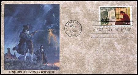 4021 - 4024 / 39c Benjamin Franklin 300th Anniversary Set of 4 Fleetwood 2006 FDCs