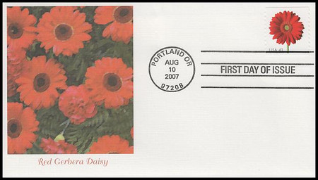 4166 - 4175 / 41c Beautiful Blooms Coil Singles Set of 10 Fleetwood 2007 FDCs