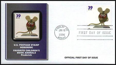 3987 - 3994 / 39c Favorite Children's Book Animals Set of 8 Fleetwood 2006 FDCs