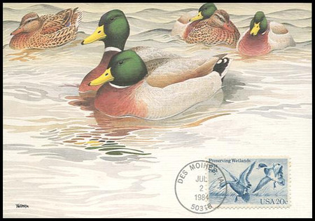 2092 / 20c Waterfowl Preservation Act 1984 Fleetwood Maximum Card