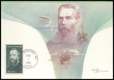 2094 / 20c Herman Melville : Moby Dick 1984 Fleetwood Maximum Card