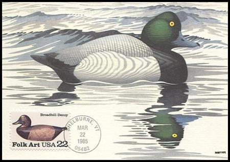 2138 - 2141 / 22c Duck Decoys Folk Art Set of 4 Fleetwood 1985 Maximum Card