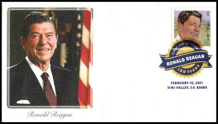 4494 / 44c Ronald Reagan Digital Color Postmark 2011 Fleetwood FDC