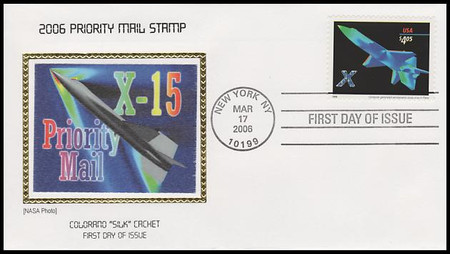 4018 / $4.05 X - Plane Priority Mail 2006 Colorano Silk First Day Cover