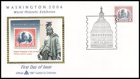 4075a - c / $1, $2, $5 Washington 2006 Set of 3 Singles 2006 Colorano Silk First Day Covers