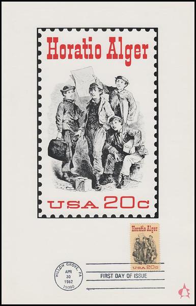 2010 / 20c Horatio Alger 1982 Andrews Cachet Maxi Card FDC