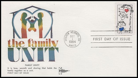 2104 / 20c Family Unity Gill Craft 1984 First Day Cover