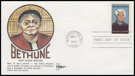 2137 / 22c Mary McLeod Bethune Black Heritage Series Gill Craft 1985 FDC