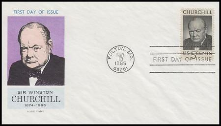 1264 / 5c Sir Winston Churchill Memorial 1965 Fluegel First Day Cover