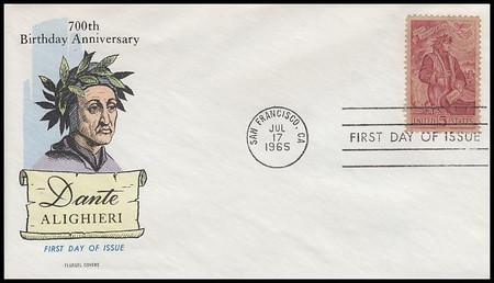 1268 / 5c Dante Alighieri 1965 Fluegel First Day Cover